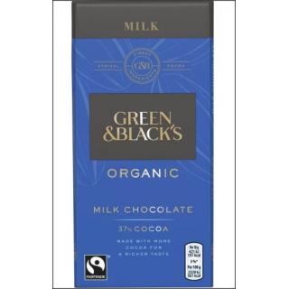 Green & Black's Organic Milk Chocolate Bar. 90g.
