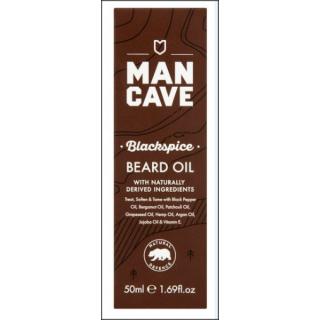 Man Cave Blackspice Beard Oil. Naturally Derived Ingredients. 50ml.