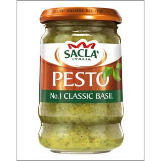 Sacla Pesto Classic Basil. 190g.