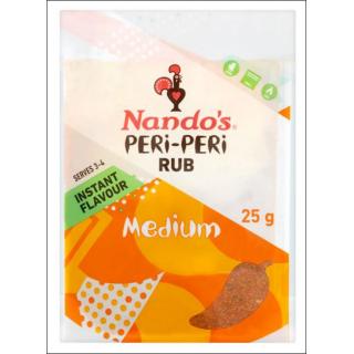 Nando's Peri-Peri Rub. Medium. Serves 3 - 4. 25g.