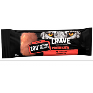 Crave Protein Chew. 100% Natural Beef Liver. 75g.