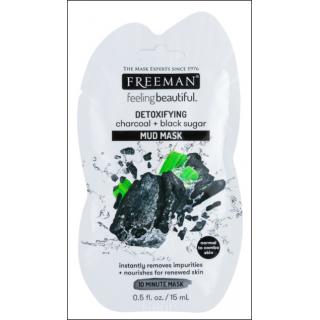 Freeman Feeling Beautiful Detoxifying Charcoal + Black Sugar Mud Mask. 1 Sachet.