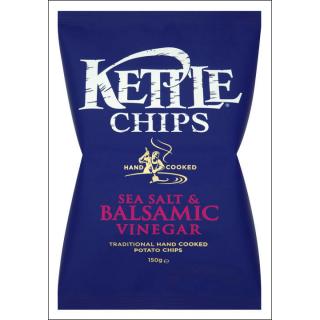 Kettle Sea Salt & Balsamic Vinegar Crisps. 150g.