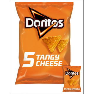 Doritos 5 Pack Tangy Cheese. 5 x 30g Bags.