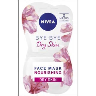 Nivea Bye Bye Dry Skin Mask. Dry Skin. 2 Masks In Sachet.