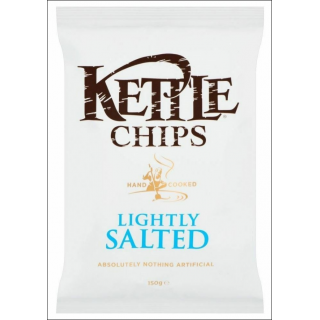 Kettle Lightly Salted Crisps. 150g.