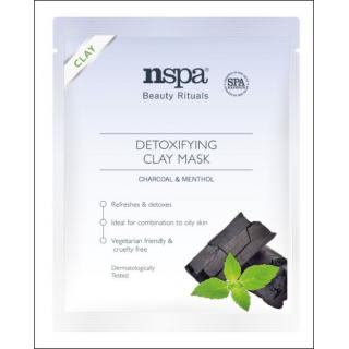 NSPA Detoxifying Clay Mask. Charcoal & Menthol. 1 Sachet.