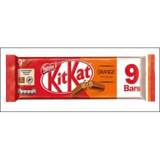 KitKat Orange Bars. 9 Pack (9 x 2 Fingers).
