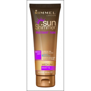 Rimmell Sun Shimmer Instant Tan. Medium. 125ml.