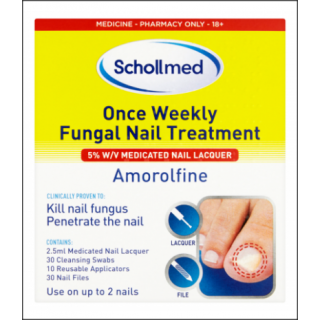 Schollmed Once Weekly Fungal Nail Treatment. Amorolfine.