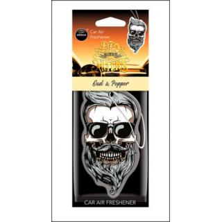 Aroma Car Air Freshener. Oud & Pepper Skull.