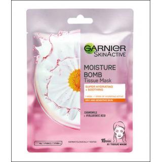 Garnier SkinActive Moisture Bomb Chamomile Tissue Mask. 1 Sachet.