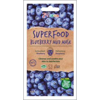 7th Heaven Superfood Blueberry Mud Mask. 1 Sachet.