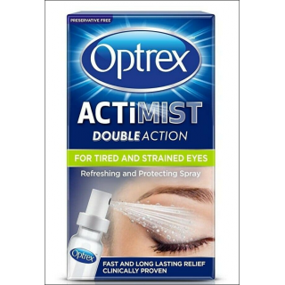 Optrex Actimist Double Action. Tired & Strained Eyes. 10ml
