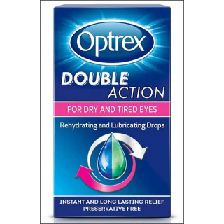 Optrex Double Action Drops. For Dry & Tired Eyes. 10ml.