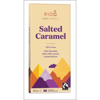 Pico Vegan + Organic Chocolate. Salted Caramel. 80g.