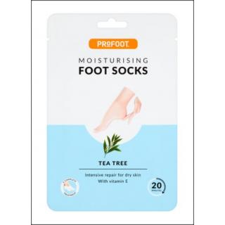 ProFoot Moisturising Foot Socks Sachet. Tea Tree. 1 Pair.