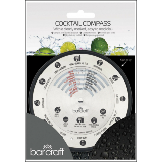 Barcraft Cocktail Compass. Spinning Clearly Marked Dial.