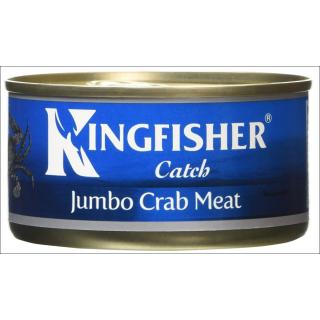 Kingfisher Crab Meat In Brine. Jumbo. 145g.