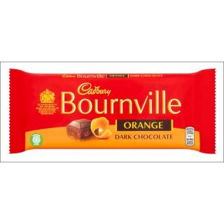 Cadbury Bournville Orange Dark Chocolate Large Bar. 180g.