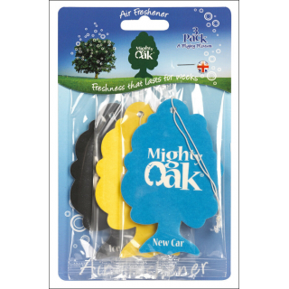 Mighty Oak Car Air Freshener 3 Pack. New Car, Vanilla & Ice Cool.