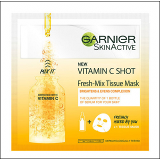 Garnier SkinActive Vitamin C Shot Mask. 1 Sachet.