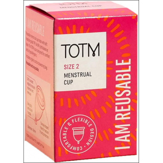 TOTM Menstrual Cup. Comfortable & Flexible Design. Size 2.