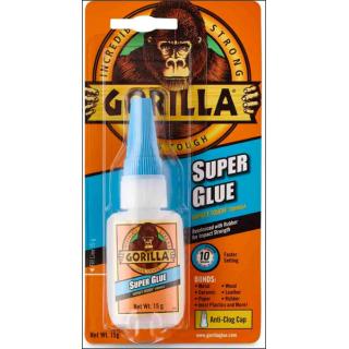 Gorilla Super Glue. Impact Tough Formula. 15g Size.