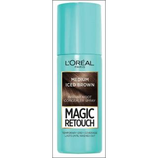 L'Oreal Magic Retouch Spray. Medium Iced Brown. 75ml.