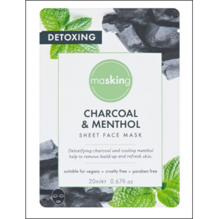 Masking Charcoal & Menthol Sheet Face Mask. 1 Sachet.