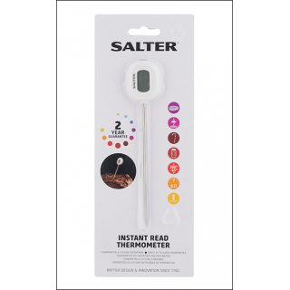 Salter Instant Read Thermometer. Check Meat Temperatures, BBQ, Confectionary etc.