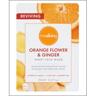 Masking Orange Flower & Ginger Sheet Face Mask. 1 Sachet.