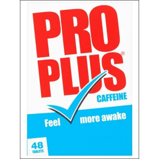 Pro Plus Caffeine. Temporary Tiredness Relief. 48 Tablets.