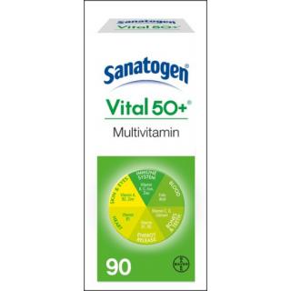 Sanatogen Vital 50+ Multivitamin & Minerals Supplement. 90 Tablets.
