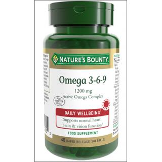 Nature's Bounty Omega 3-6-9 Complex. Active Omega Complex. 60 Softgels.