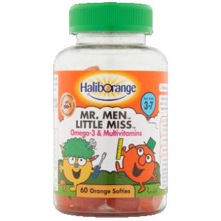 HalibOrange Mr.Men Omega-3 & Multivitamin Supplement. 60 Softies.