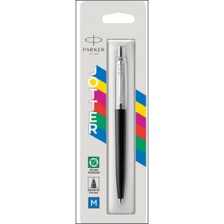 Parker Jotter Ballpoint Pen. Blue Ink. Refillable. Black Barrel/Casing.
