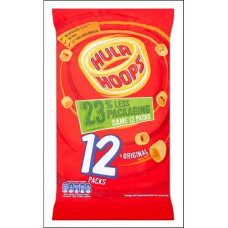 Hula Hoops 12 Pack Original Flavour. 12 x 24g Bags.
