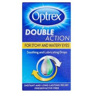 Optrex Double Action Drops. For Itchy & Watery Eyes. 10ml.