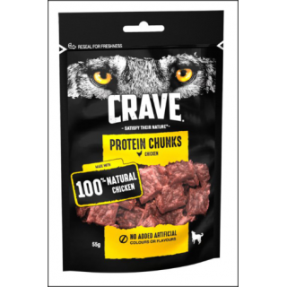 Crave Protein Chunks. Chicken. 55g.