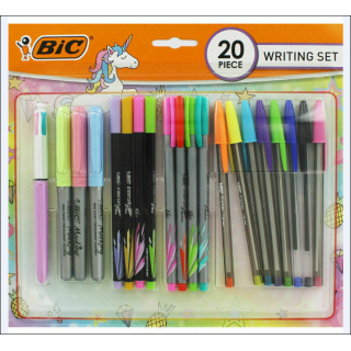 BIC Writing Set. 20 Piece (Mixed Colours).