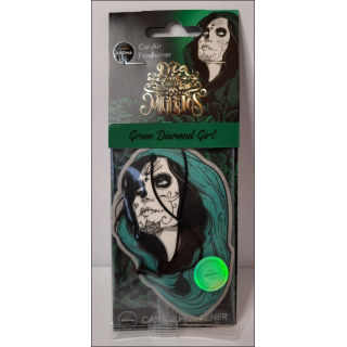 Aroma Car Air Freshener. Green Diamond Girl.