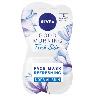 Nivea Good Morning Fresh Skin Mask. Normal Skin. 2 Masks In Sachet.