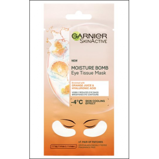 Garnier SkinActive Mositure Bomb Eye Tissue Mask. Orange Juice. 1 Sachet.