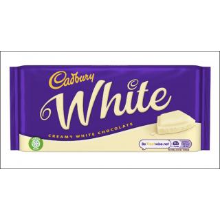 Cadbury White Creamy White Chocolate. Large Bar. 180g.