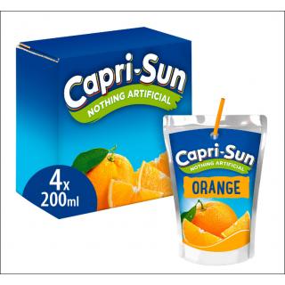 Capri-Sun Orange 4 Pack. 4 x 200ml Drinks.