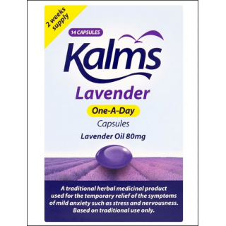 Kalms Lavender One-A-Day Capsules. 2 Weeks Supply.