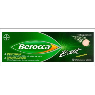 Berocca Boost With Guarana Supplement. 10 Tablets.