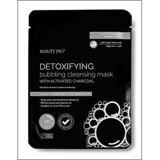 Beauty Pro Detoxifying Bubbling Cleansing Mask. 1 Sachet.