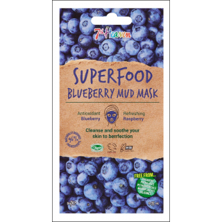 7th Heaven Superfood Blueberry Mud Mask. 1 Sachet.